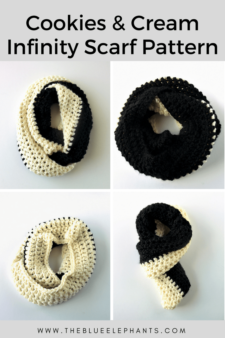 Cookies Cream Scarf Infinity Scarf Crochet Pattern