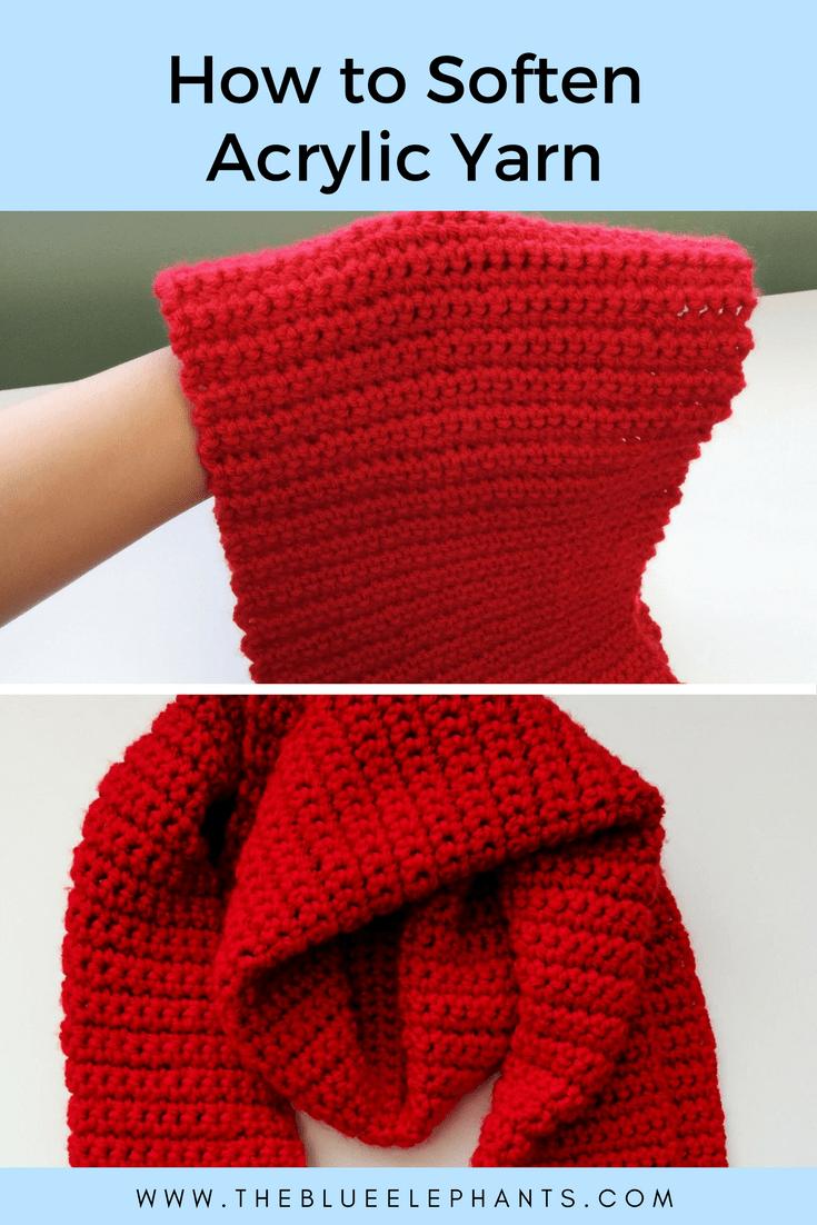 how to soften acrylic yarn