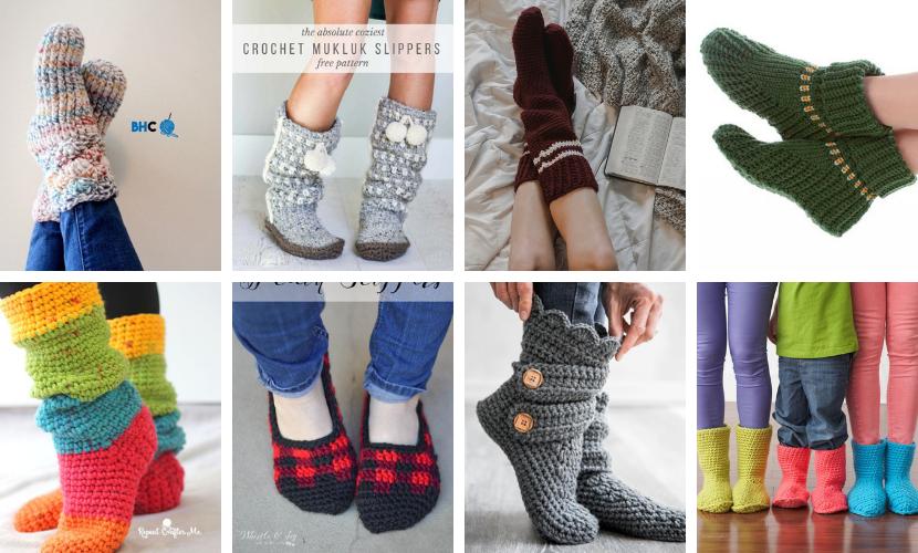 Top 10 Free Crochet Patterns for Slippers & Socks  