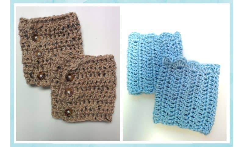 Free Patterns Crochet Boot Cuffs 2 Versions
