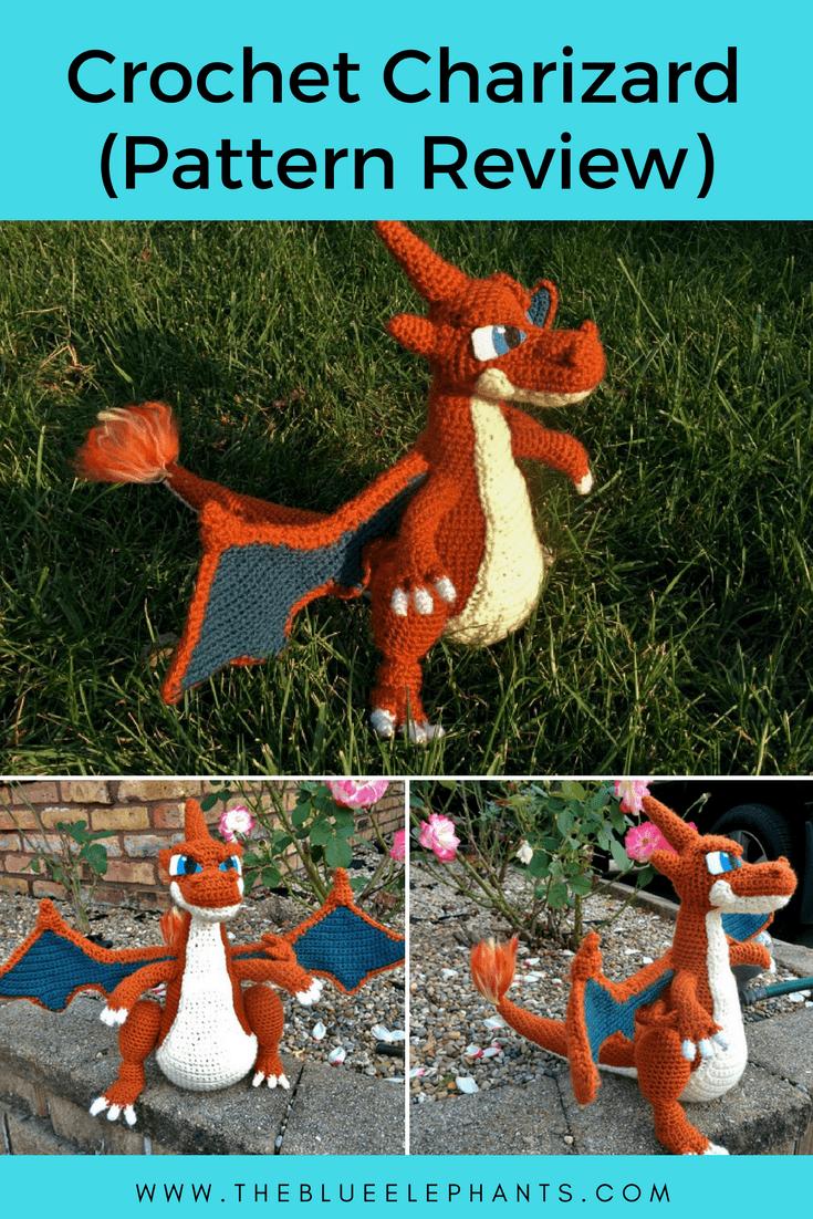 Crochet pokemon Pattern Charizard