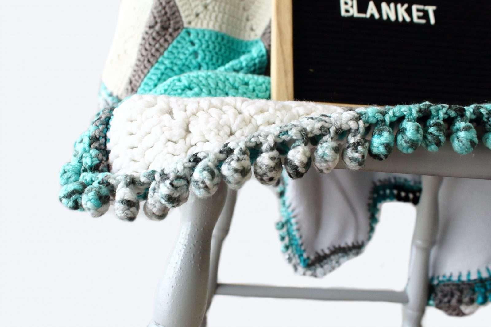 Hudson Blanket: Modern Hexagon Baby Blanket Pattern |