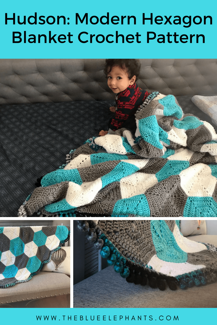 Hudson Blanket Modern Hexagon Baby Blanket Pattern
