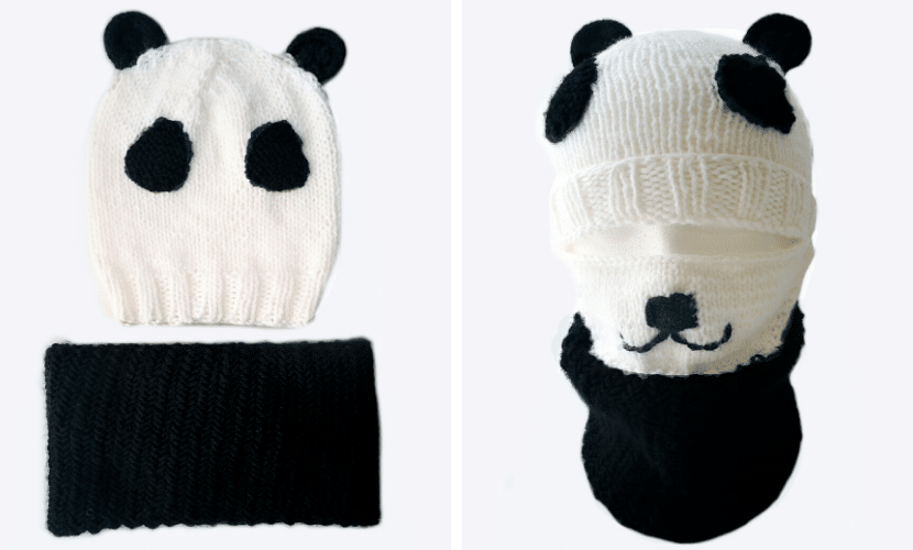 panda beanie knitting pattern
