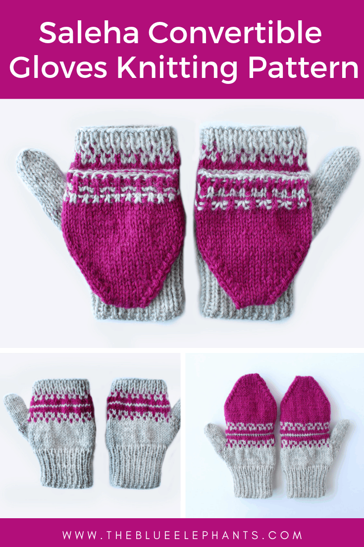 how to knit convertible gloves