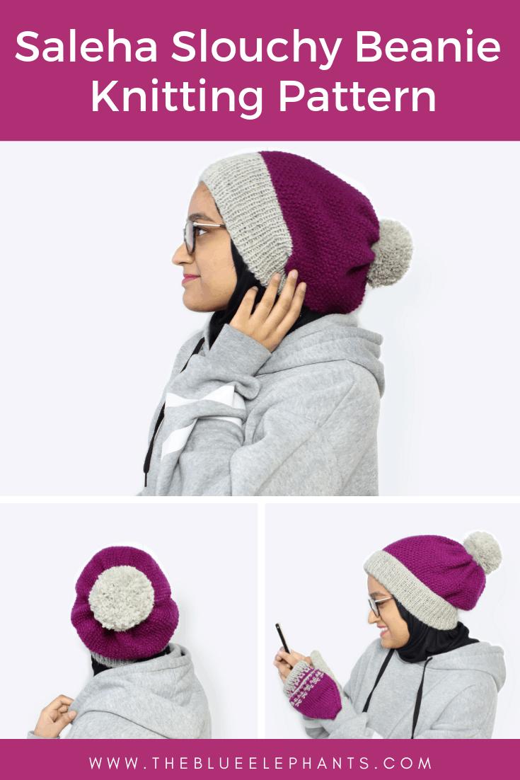 saleha slouchy beanie knitting pattern