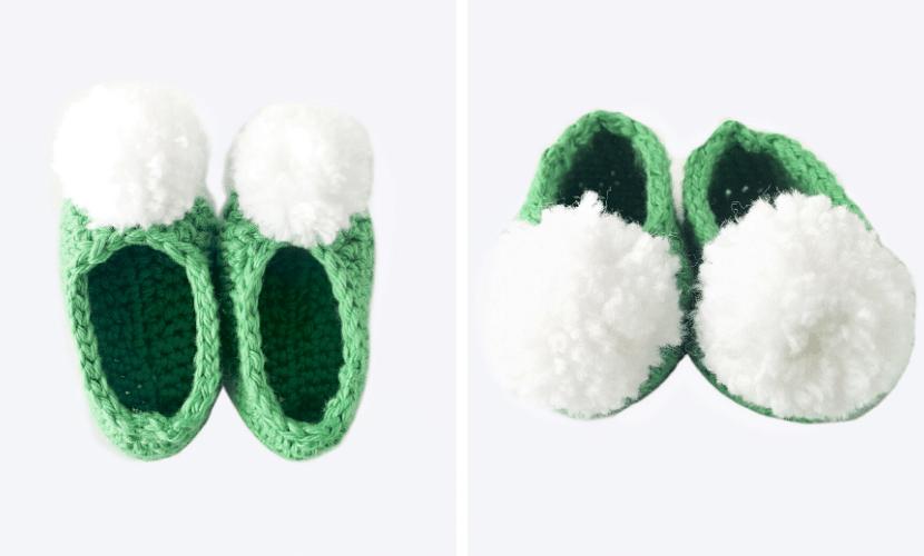 Tinker Bell Slippers: Free Baby Booties Crochet Pattern