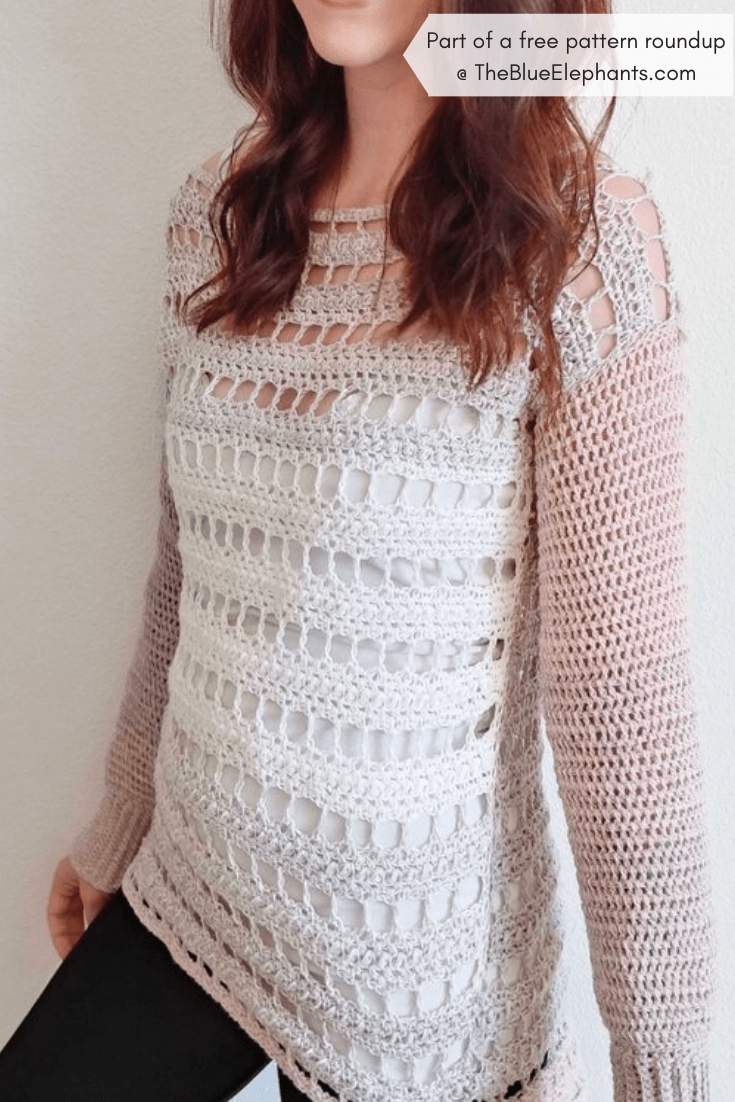 4dd822a696508 20+ Free Crochet Sweater Patterns for Adults and Kids!