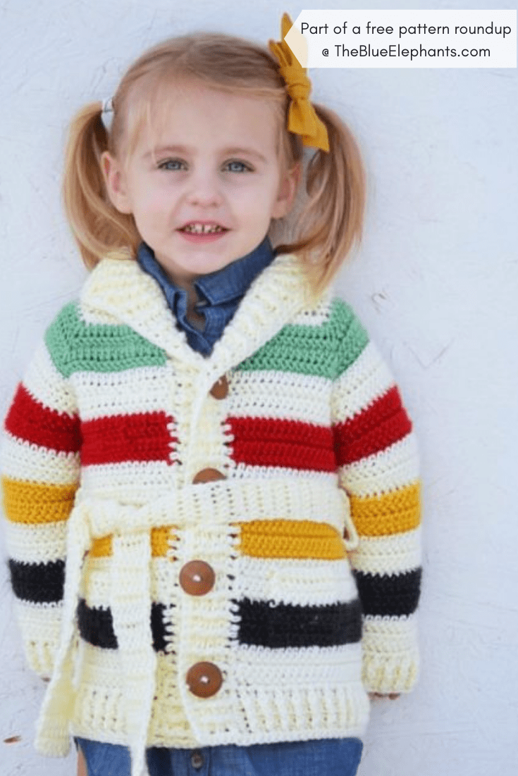 3e4f97a7a 20+ Free Crochet Sweater Patterns for Adults and Kids!