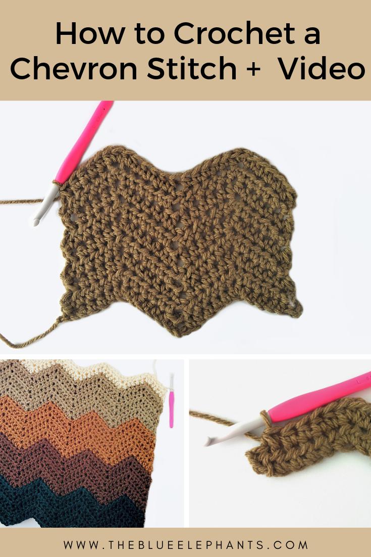 how to crochet a chevron stitch tutorial