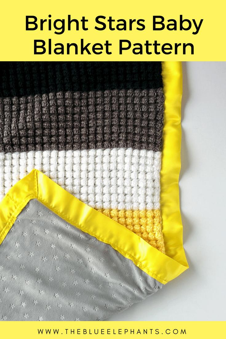 Bright Stars: A simple crochet blanket pattern
