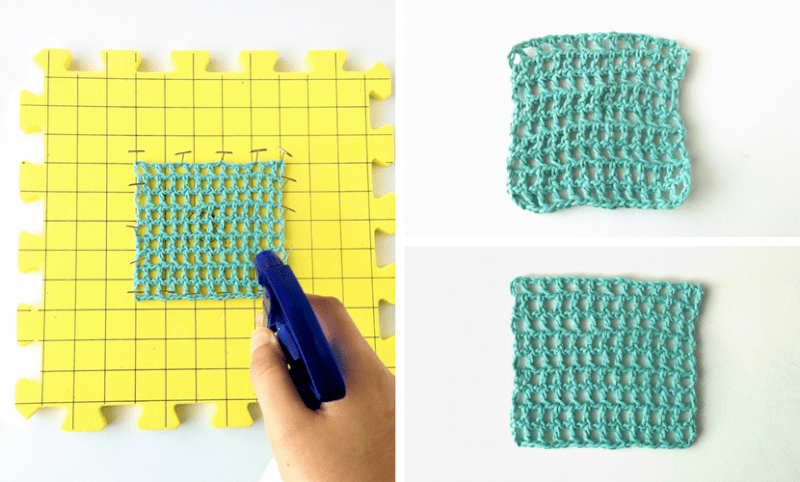 All About Blocking Crochet Knits