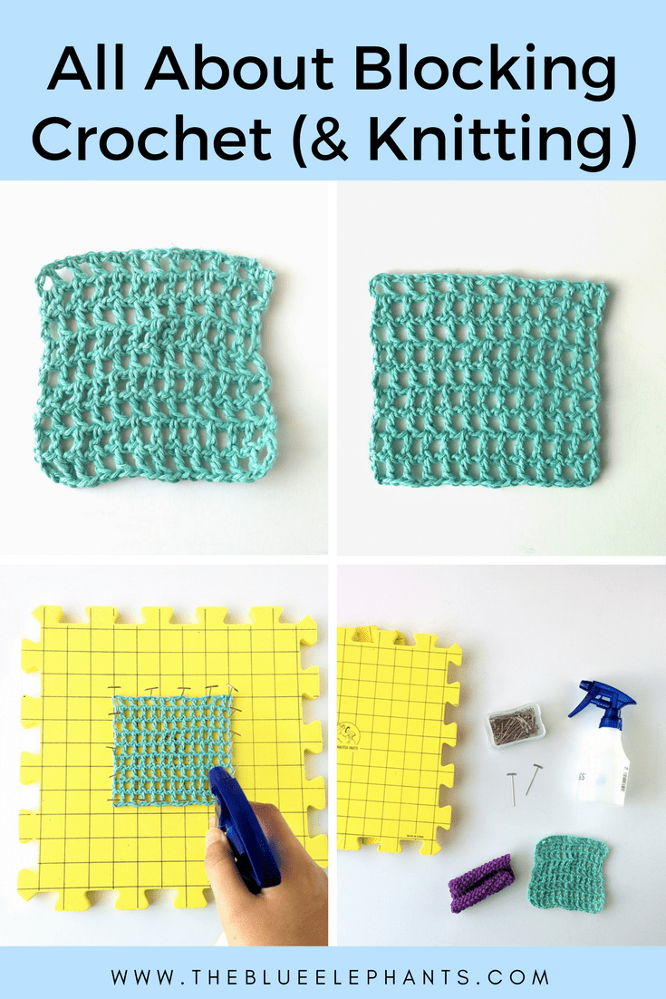 all about blocking crochet and knits