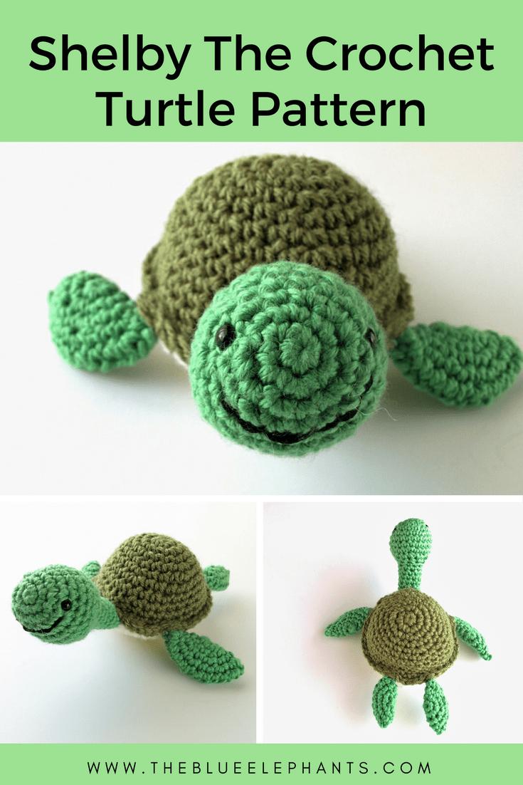 How to crochet amigurumi turtle