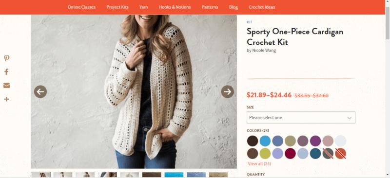 493595778354b The Easiest Crochet Cardigan + 8 Crochet Kits For Beginners
