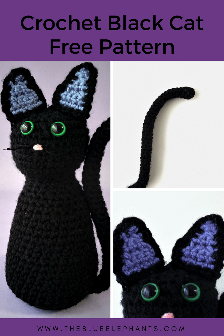 How to make a crochet black cat free pattern!