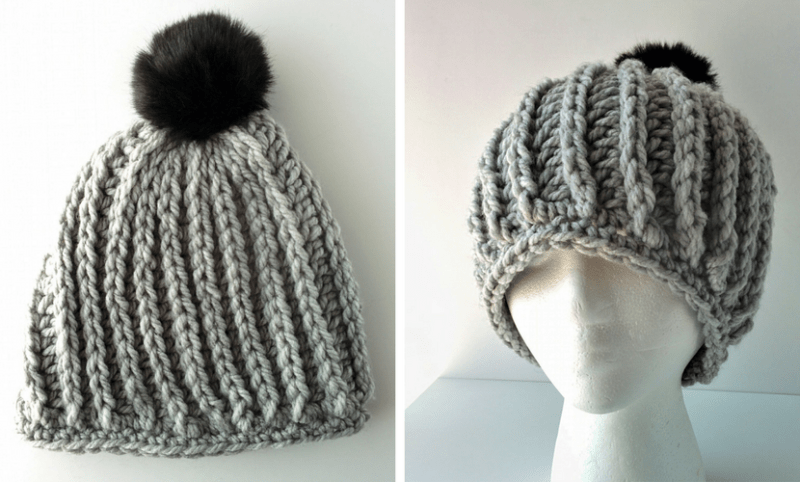 05f3a0555ad Madeline  Chunky Ribbed Beanie Free Pattern