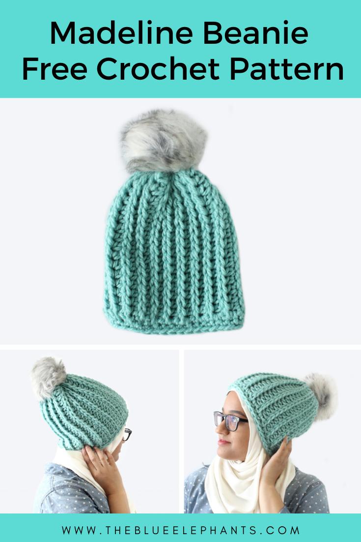 Madeline Beanie free Crochet pattern