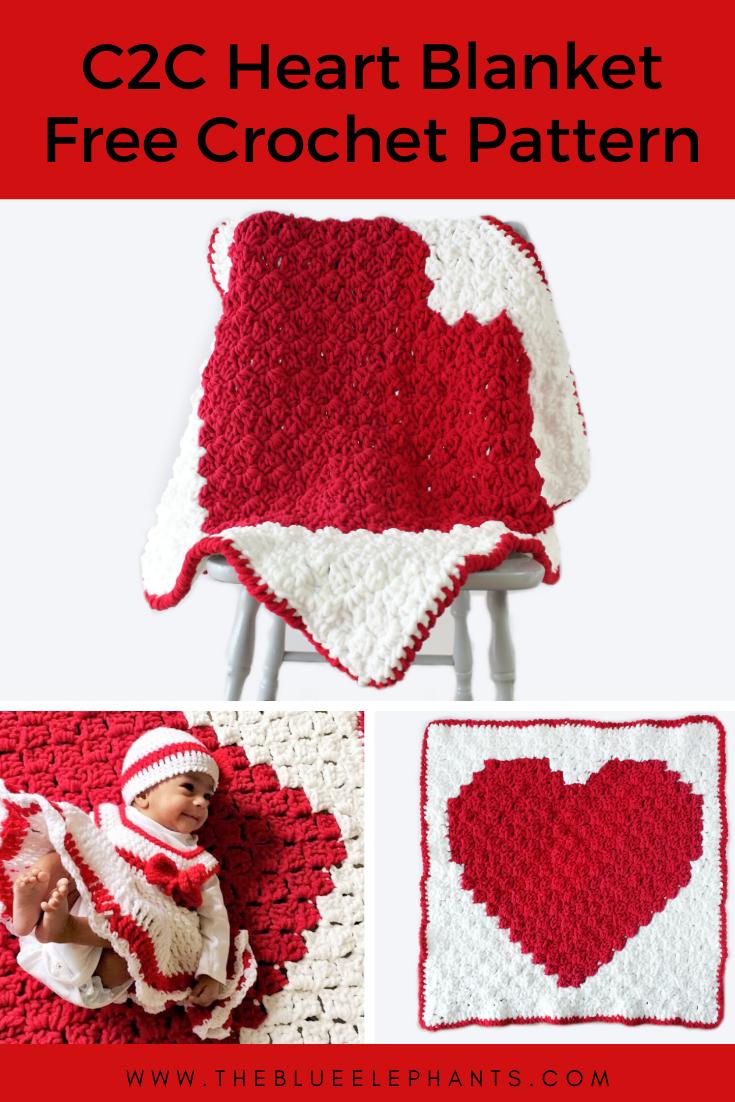 Elephant Holding Baby Afghan, C2C Crochet Pattern | 1102x735