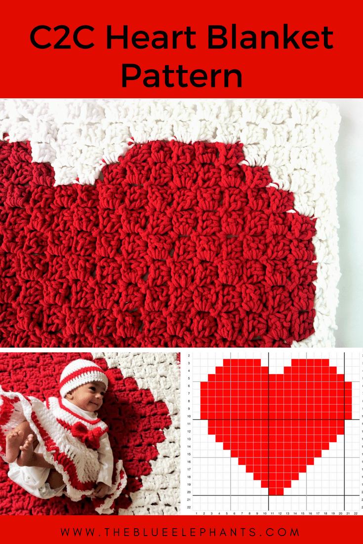 C2c Heart Blanket Pattern