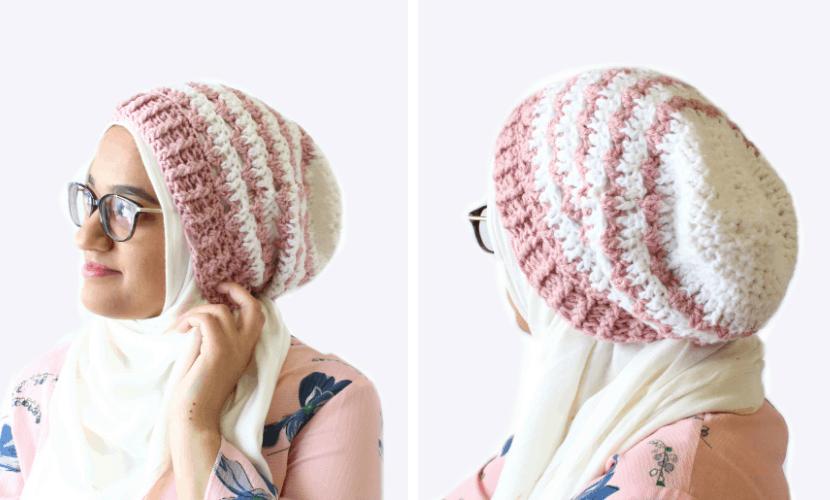 6964d2f0f8f Rosebud  Crochet Slouchy Beanie Pattern