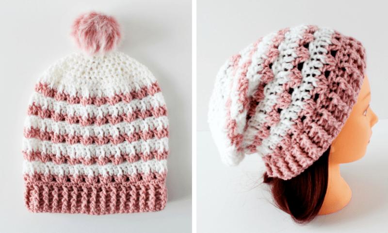 Rosebud: Crochet Slouchy Beanie Pattern  