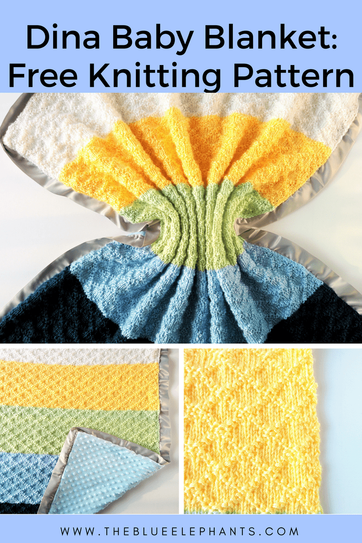 Dina Blanket: Super Easy Knit Baby Blanket Pattern
