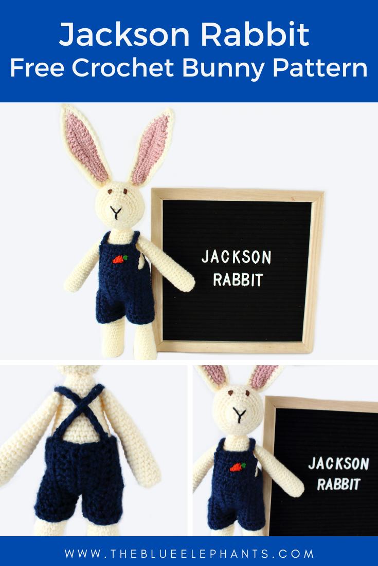 Jackson rabbit free crochet bunny pattern