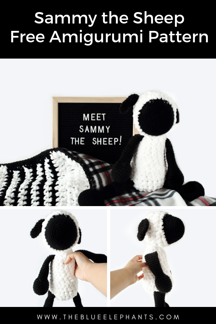 sammy the crochet sheep free amigurumi pattern