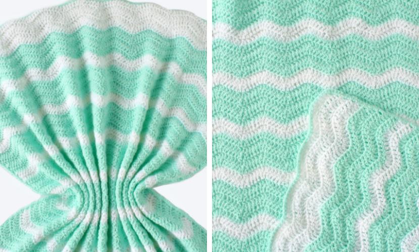 cf59f0129d2b5d Summer Waves Baby Blanket: Lightweight Ripple Crochet Pattern