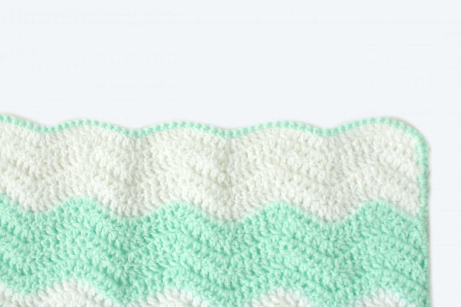 Summer Waves Baby Blanket Lightweight Ripple Crochet Pattern