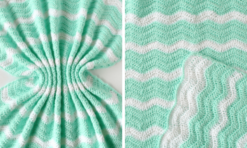 Summer Waves Baby Blanket Lightweight Ripple Crochet Pattern