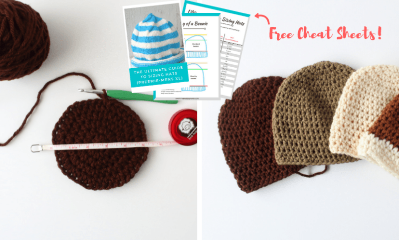 c30856bd289 How to Crochet Hat Sizes in 3 Easy Steps + Hat Sizing Freebie