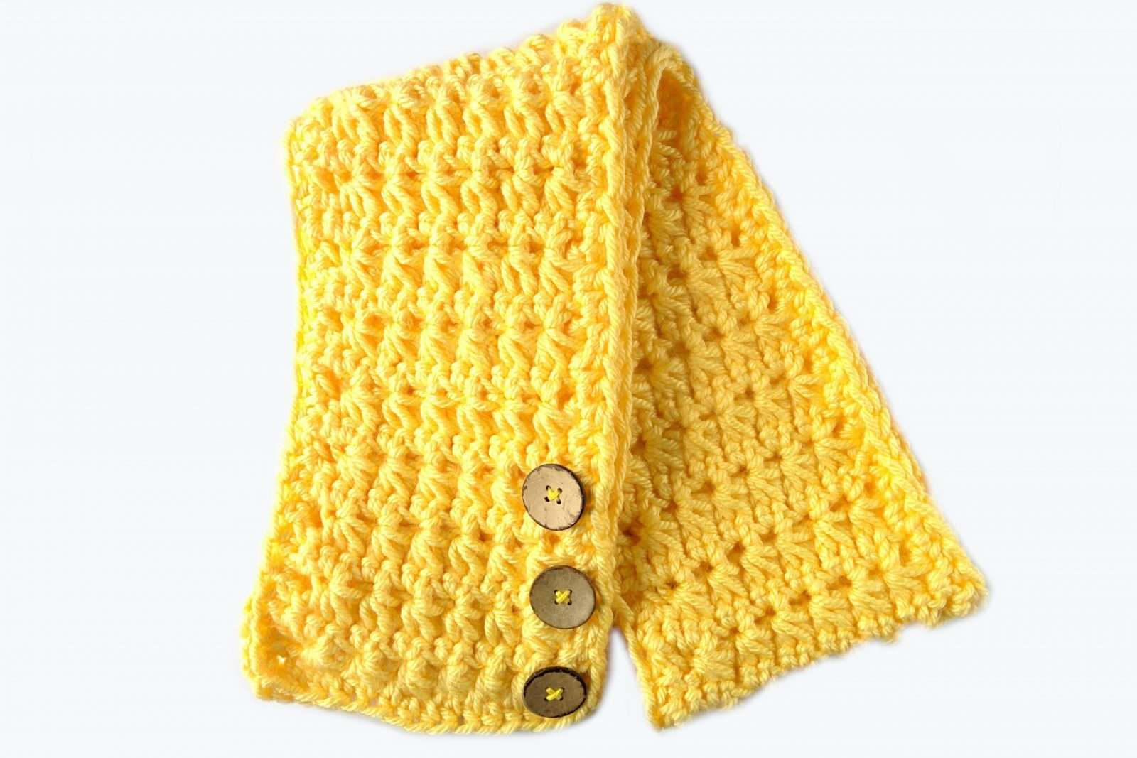 Free lemonade crochet scarf pattern