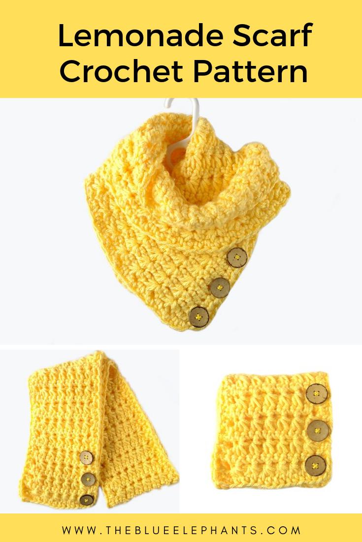 Lemonade Scarf Crochet Pattern