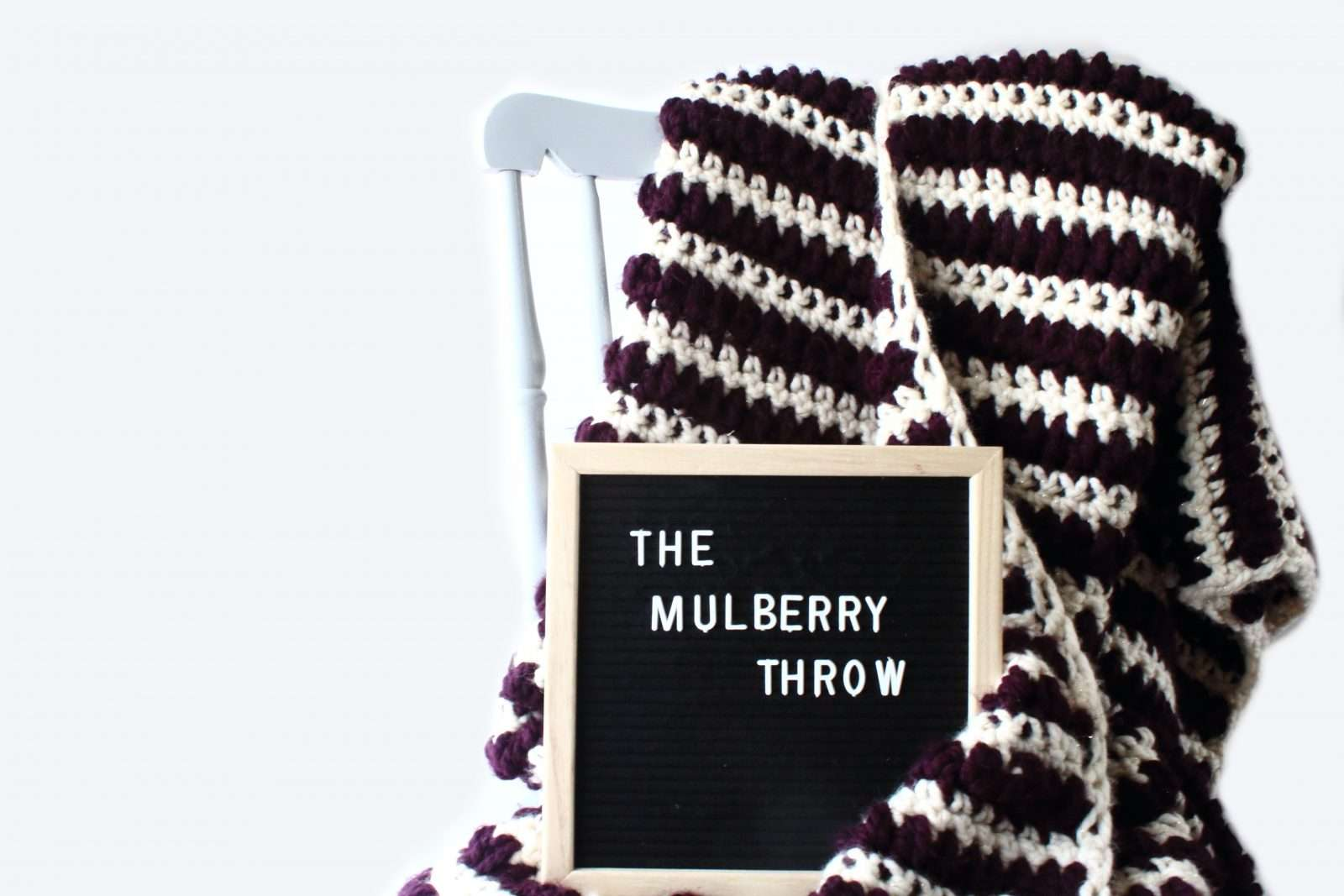 Mulberry throw easy crochet blanket pattern