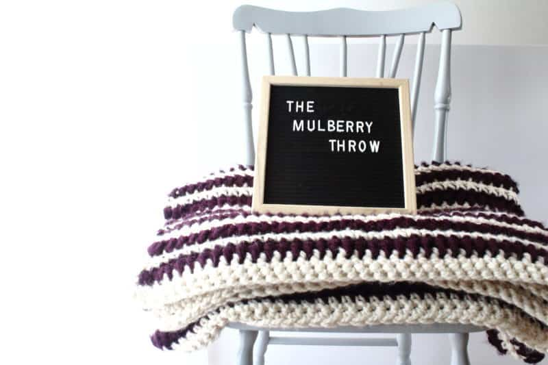 The Mulberry Throw: Thick and Easy Crochet Blanket Pattern |