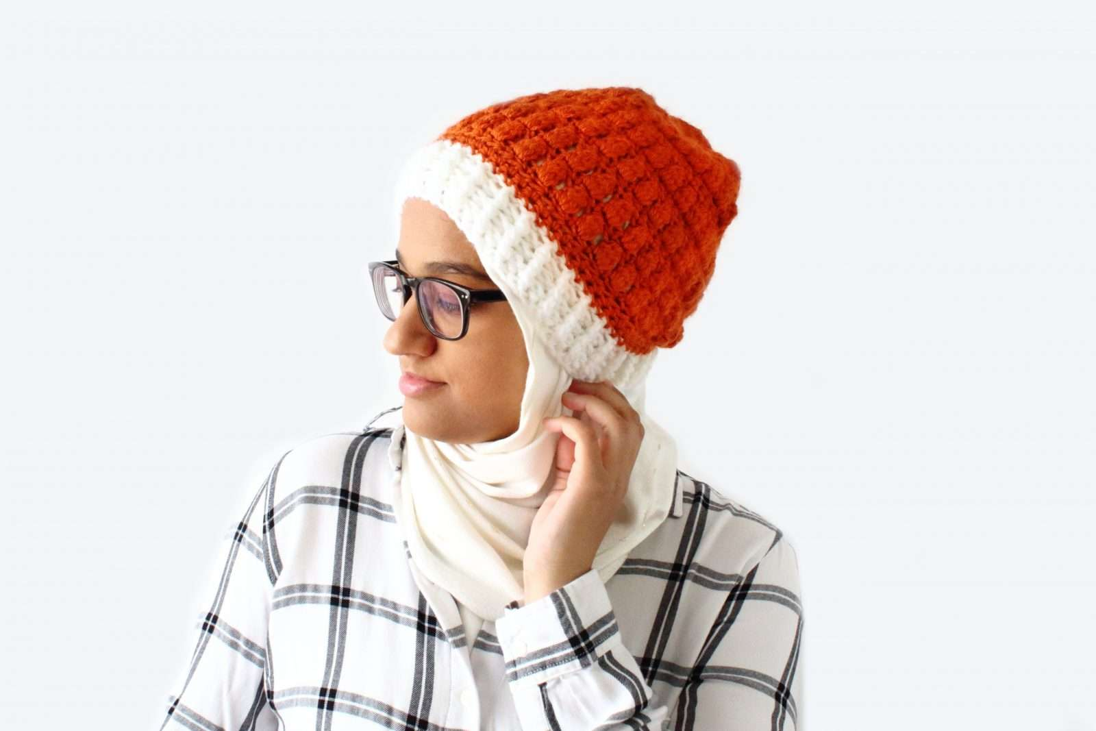 Pumpkin spice crochet beanie pattern