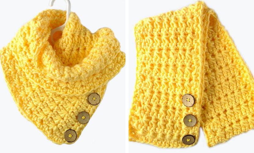 The Lemonade Scarf: Free Crochet Scarf Pattern