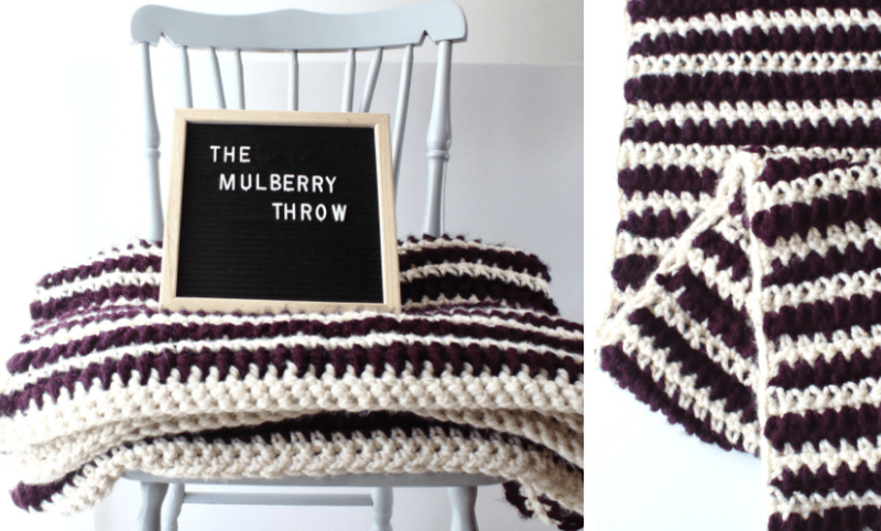 The Mulberry Throw Thick And Easy Crochet Blanket Pattern