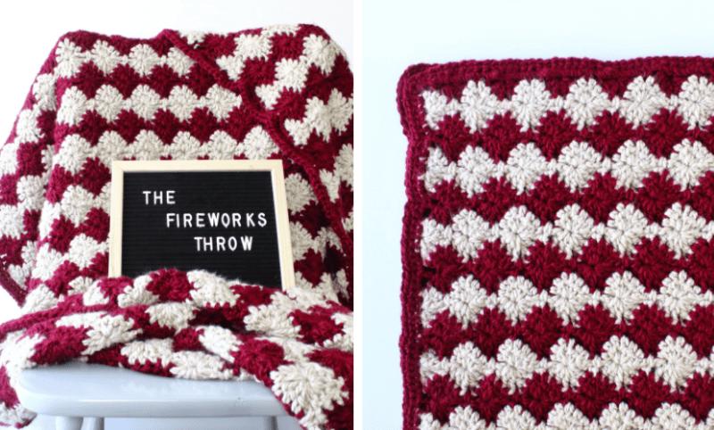 fireworks throw easy crochet blanket pattern