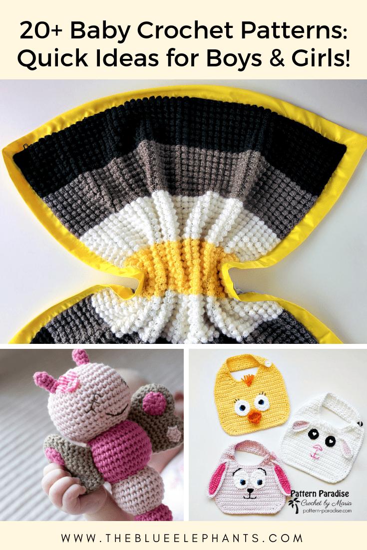 20 Baby Crochet Patterns Quick Crochet Ideas For Boys Girls