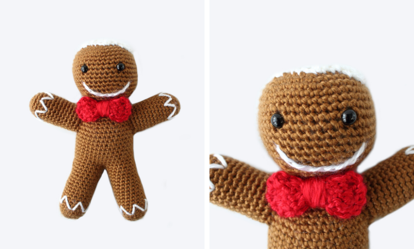 Ronald the Crochet Gingerbread Man: Free Crochet Pattern