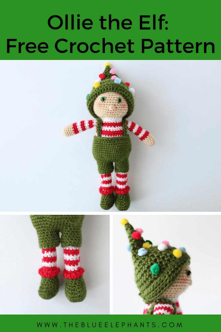 Ollie the elf toy crochet pattern