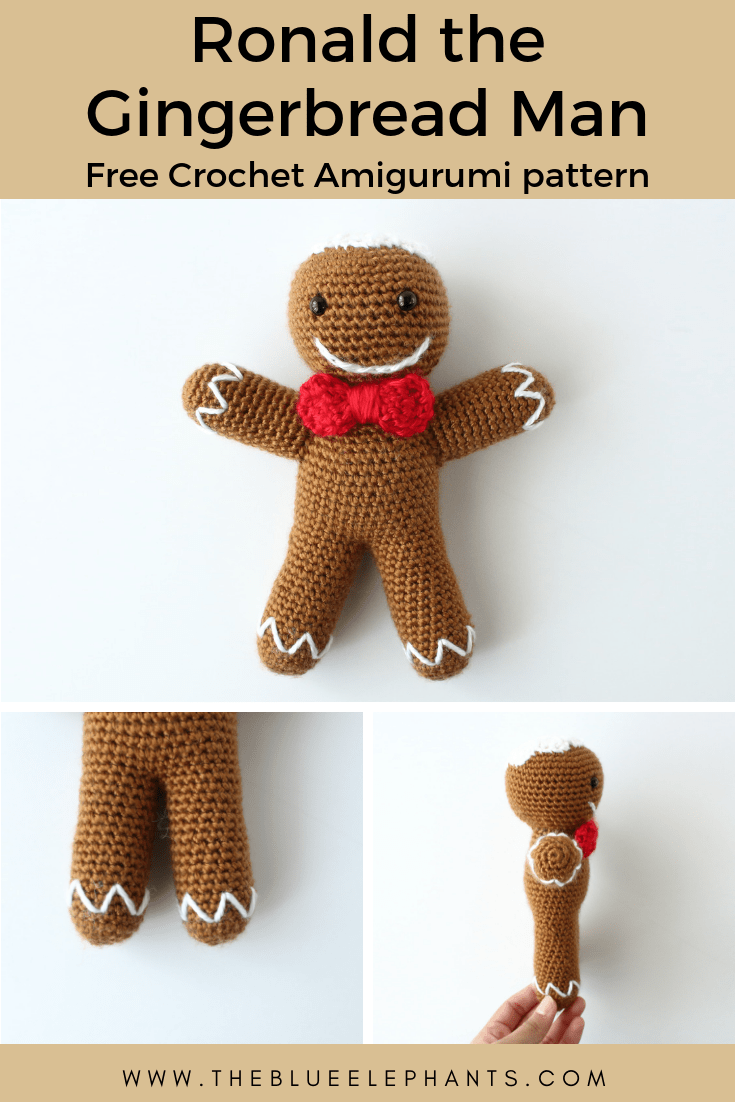 ronald gingerbread man crochet amigurumi pattern