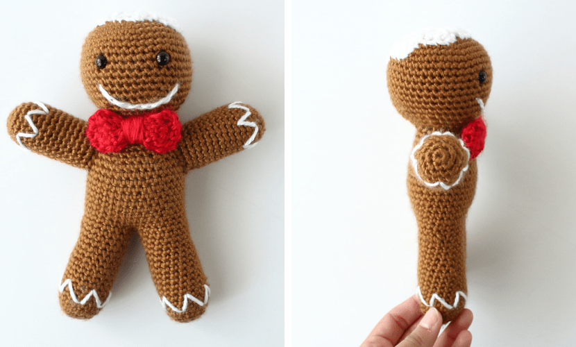 Ronald The Gingerbread Man Free Amigurumi Crochet Pattern