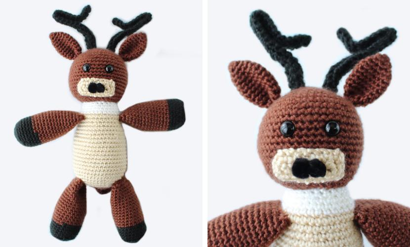 Comet the Reindeer Plushie: Free Crochet Reindeer Pattern