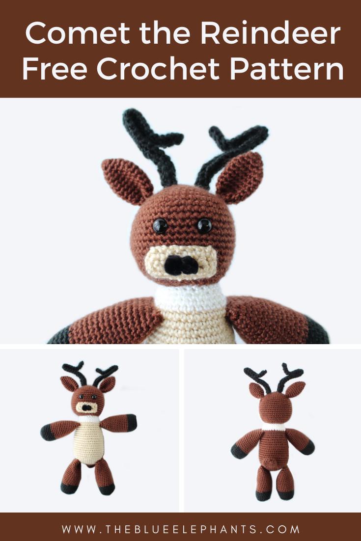 Cute Crochet Reindeer Amigurumi - Free Patterns - DIY 4 EVER | 1102x735