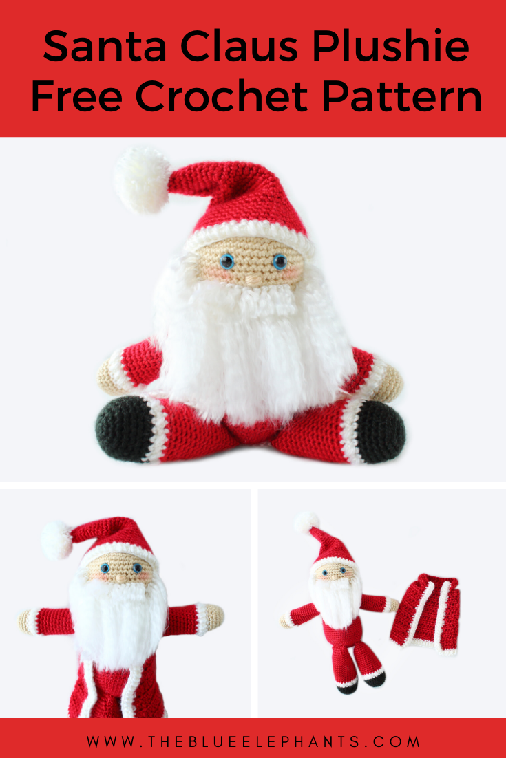 19 Free Amigurumi Christmas Santa Crochet Patterns | Crochet xmas ... | 1102x735