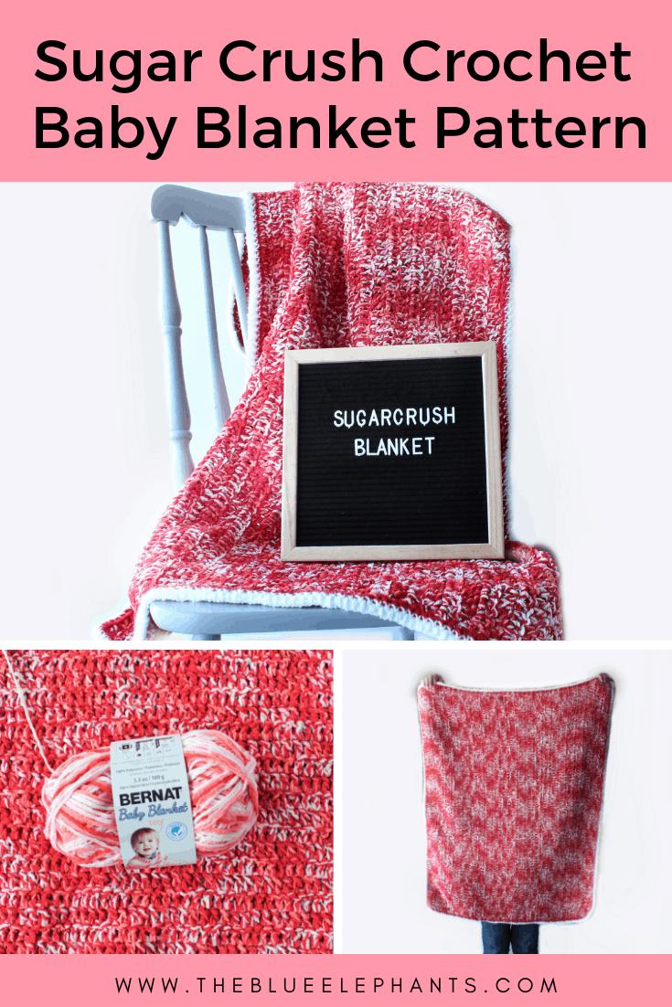 Sugar Crush Stroller Blanket Easy Crochet Baby Blanket Pattern